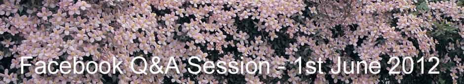 Facebook Q&A Session 1st June 2012