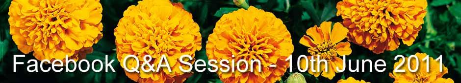 Facebook Q&A Session 10th June