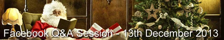 Facebook Q&A Session 13th November 2013