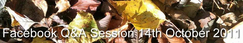 Facebook Q&A Session 14th October