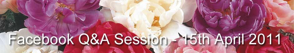 Facebook Q&A Session 15th April