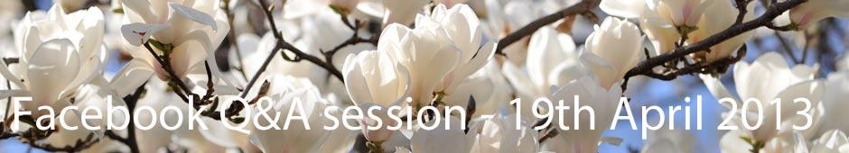 Facebook Q&A Session 19th April 2013
