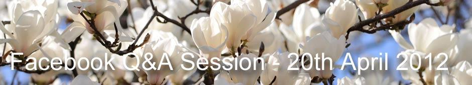 Facebook Q&A Session 20th April 2012
