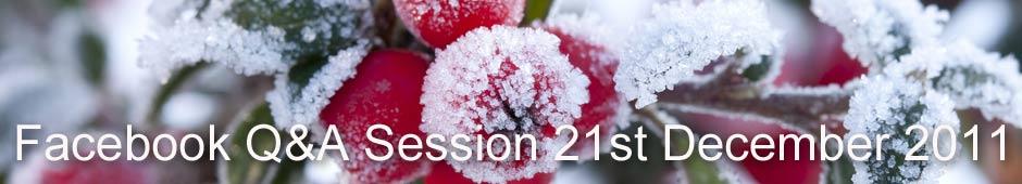Facebook Q&A Session 21st December