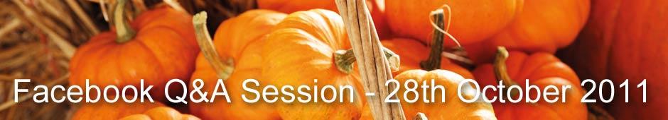 Facebook Q&A Session 28th October