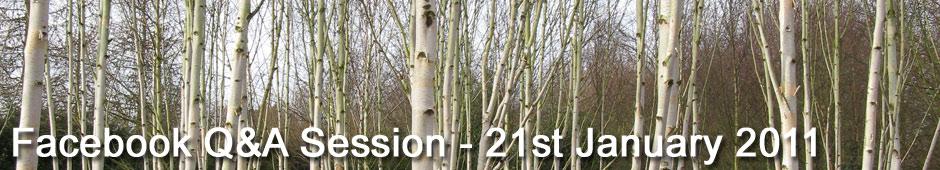 Facebook Q&A Session Januay 21st