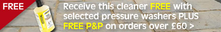 FREE Karcher Universal Cleaner with selected Pressure Washers PLUS FREE P&P on orders over £60