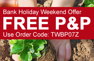 FREE P&P on your order, this bank holiday weekend