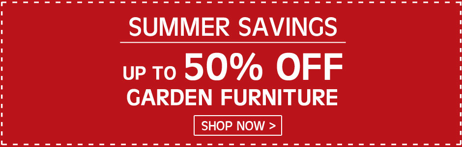 Summer savings - up to 50% OFF garden furniture