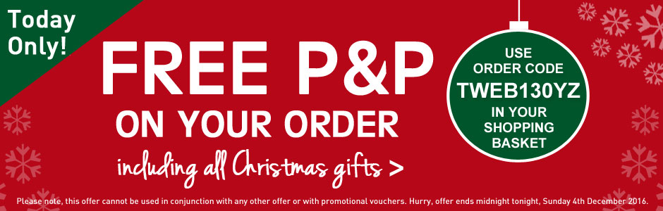 Free P&P on your order