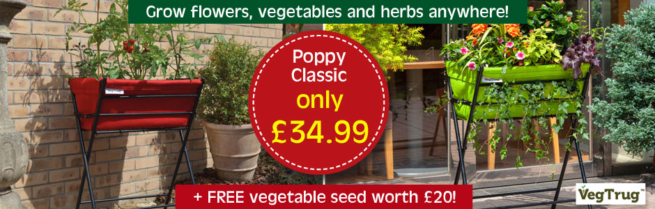 VegTrug™ Poppy Classic - the perfect solution to growing in limited outdoor space