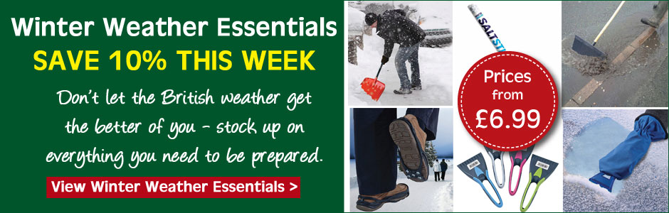 Don't let the British weather get the better of you - buy all the winter weather essentials you need with an extra 10% off - offer ends midnight Thursday 2nd February