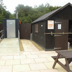 The grants paid for the entire landscaping of the area creating full disabled access to the toilet and meeting shed