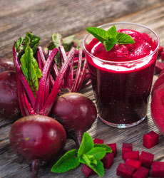 glass of beetroot juice