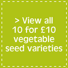 View all 10 for £10 vegetable seed varieties