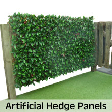 Artificial hedging panels