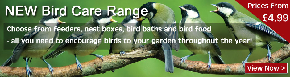 Bird Care Range - everything you need to keep our feathered friends visiting your garden.