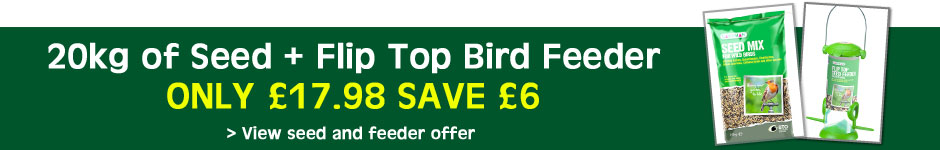 20kg of seed + Flip Top Feeder ONLY £17.98