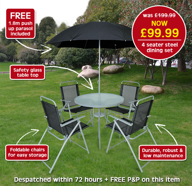 4 seater dining set NOW £99.99