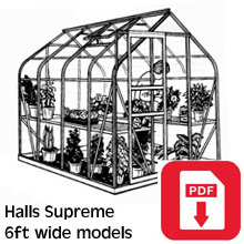 Halls 6ft Supreme Greenhouse Assembly Guide