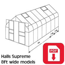 Halls 8ft Supreme Greenhouse Assembly Guide