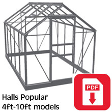 Halls Popular Greenhouse Assembly Guide