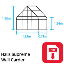 Halls Supreme Wall Greenhouse Assembly Guide