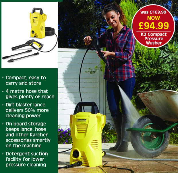 Karcher K2 Compact Pressure Washer NOW £94.99