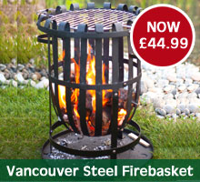 Vancouver Steel Firebasket with BBQ Grill
