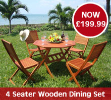4 Seater Wooden Dining Set