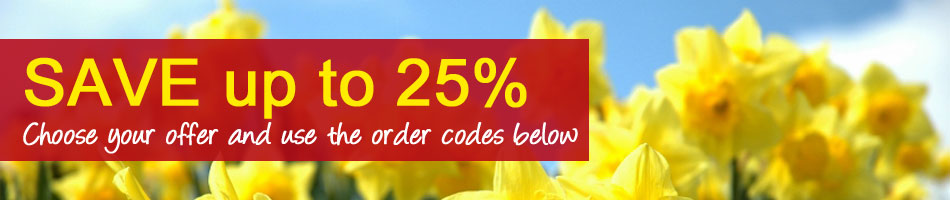 Save up to 25% - choose your offer!