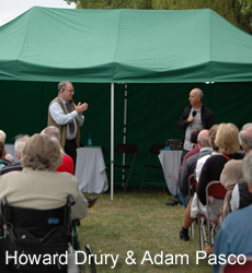 Howard Drury and Adam Pasco in action at Gardeners' Question Time