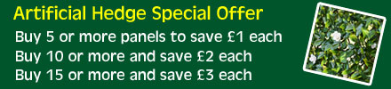 Special Offer on Artificial Hedge Panels