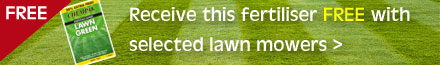 Receive this fertiliser FREE with selected lawn mowers - click here to view qualifying mowers