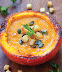 Pumpkins are not just for carving, they're also ideal for using in a variety of culinary dishes such as soup!