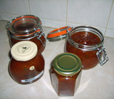 Sweet Hot Chilli and Tomato Chutney - Belinda Estell