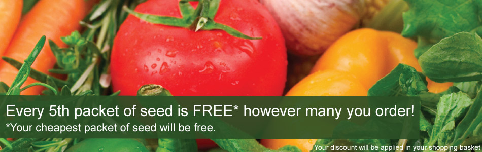Free packet of seed when you buy 5