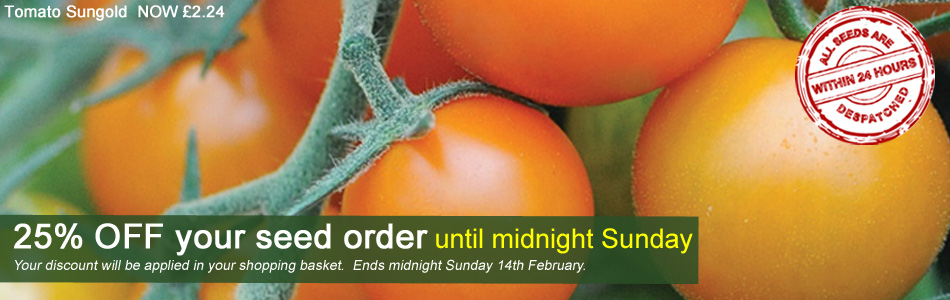 25% OFF your seed order