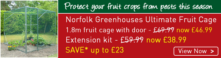 Protect fruit crops from pests this season with the Norfolk Greenhouses Ultimate Fruit Cage