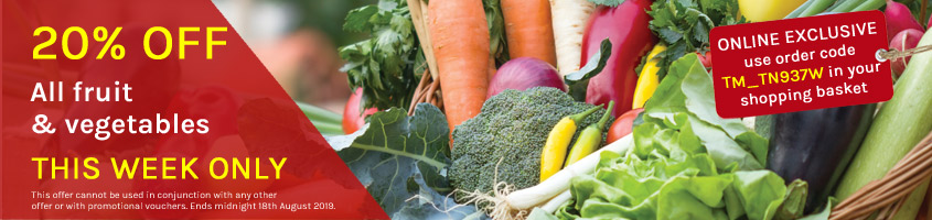20% OFF ALL fruit and veg - THIS WEEK ONLY