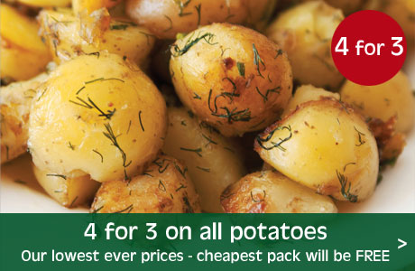 4 for 3 on all potatoes