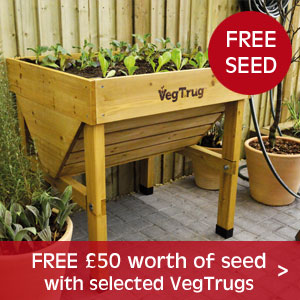 £50 worth of FREE seed with selected VegTrugs