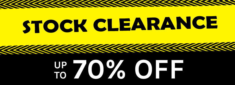 stock clearance up to 70% off!