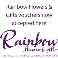 Rainbow Flowers & Gifts vouchers now accepted here
