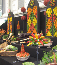 Jersey Farmers' vegetable display