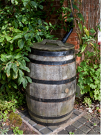 Be water-wise - install water butts in your garden