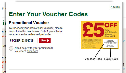 promotional voucher pop up example